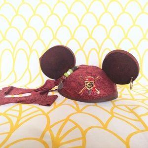 Disney Maroon Pirates of the Caribbean Mickey Ears